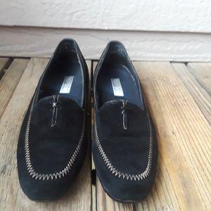 Munro American black Suede Moccasins 9.5 Narrow